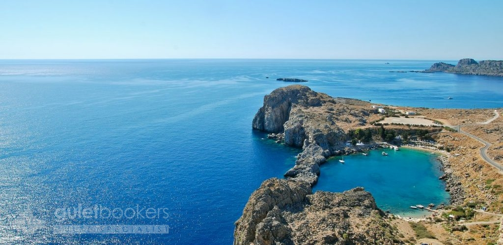 Città di Lindos Grecia